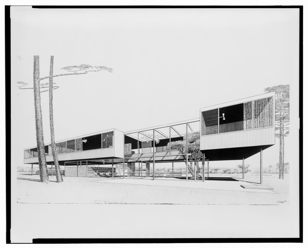 Renderings paul rudolph atlas of places Architect florida
